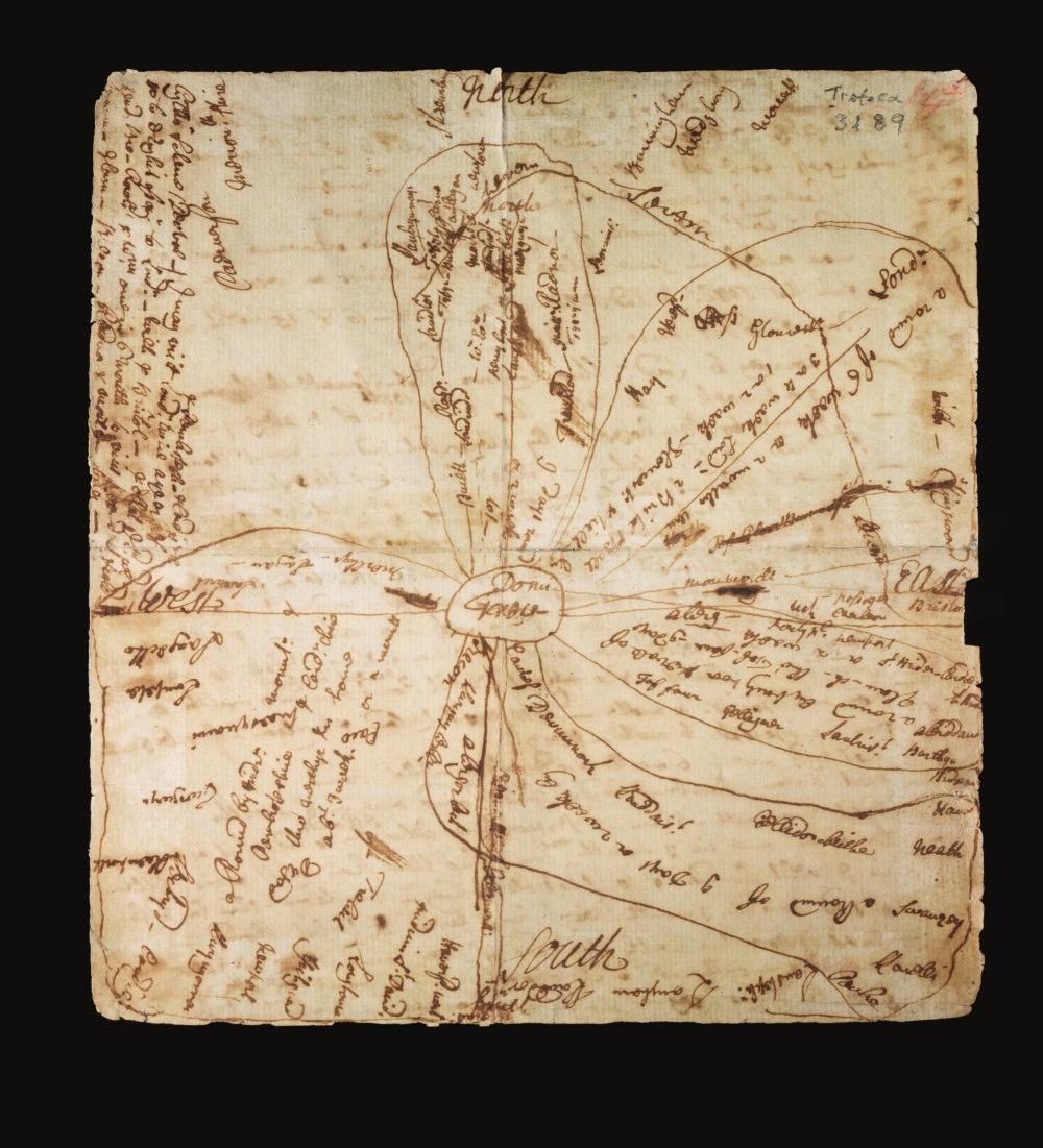 Andrew Green 45 Map o deithiau Howell Harris