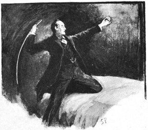 Holmes lashed furiously