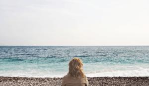 Lady on a beach
