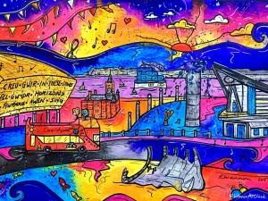 Rhiannon Art Cardiff Bay 1024x768 parallel.cymru wallpaper