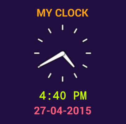 Android Clock Application