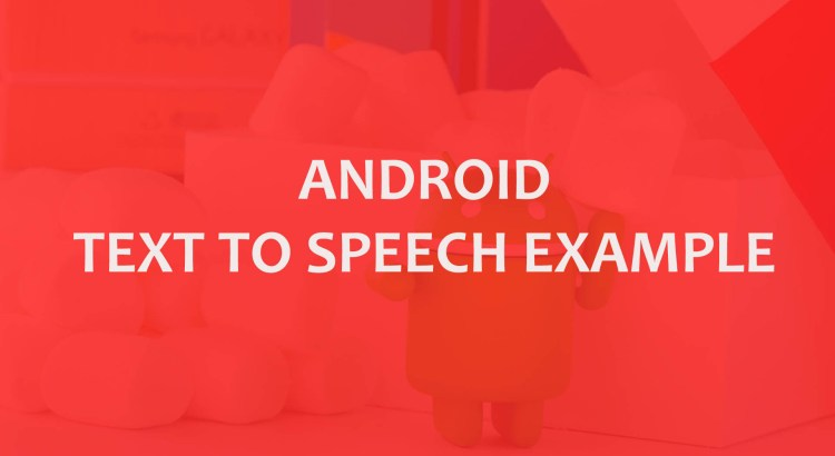 android text to speech