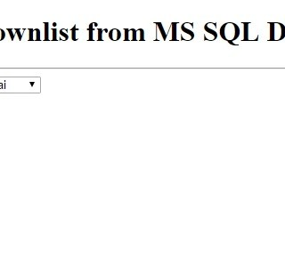 ASP NET fill Dropdownlist from MS SQL Server Database • ParallelCodes