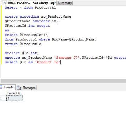 SQL Server – Stored Procedure returning output parameter