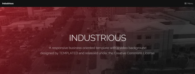 free css templates download industrious theme