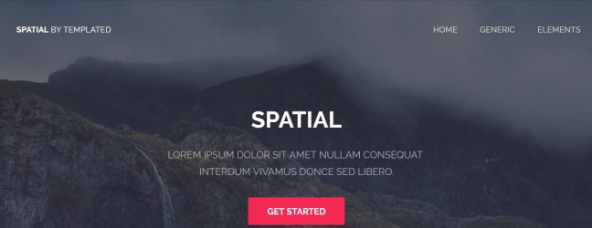 free css templates download spatial theme