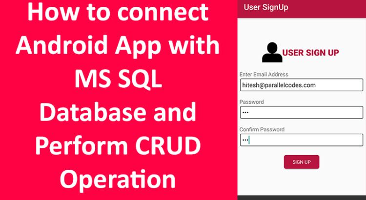 android ms sql database app