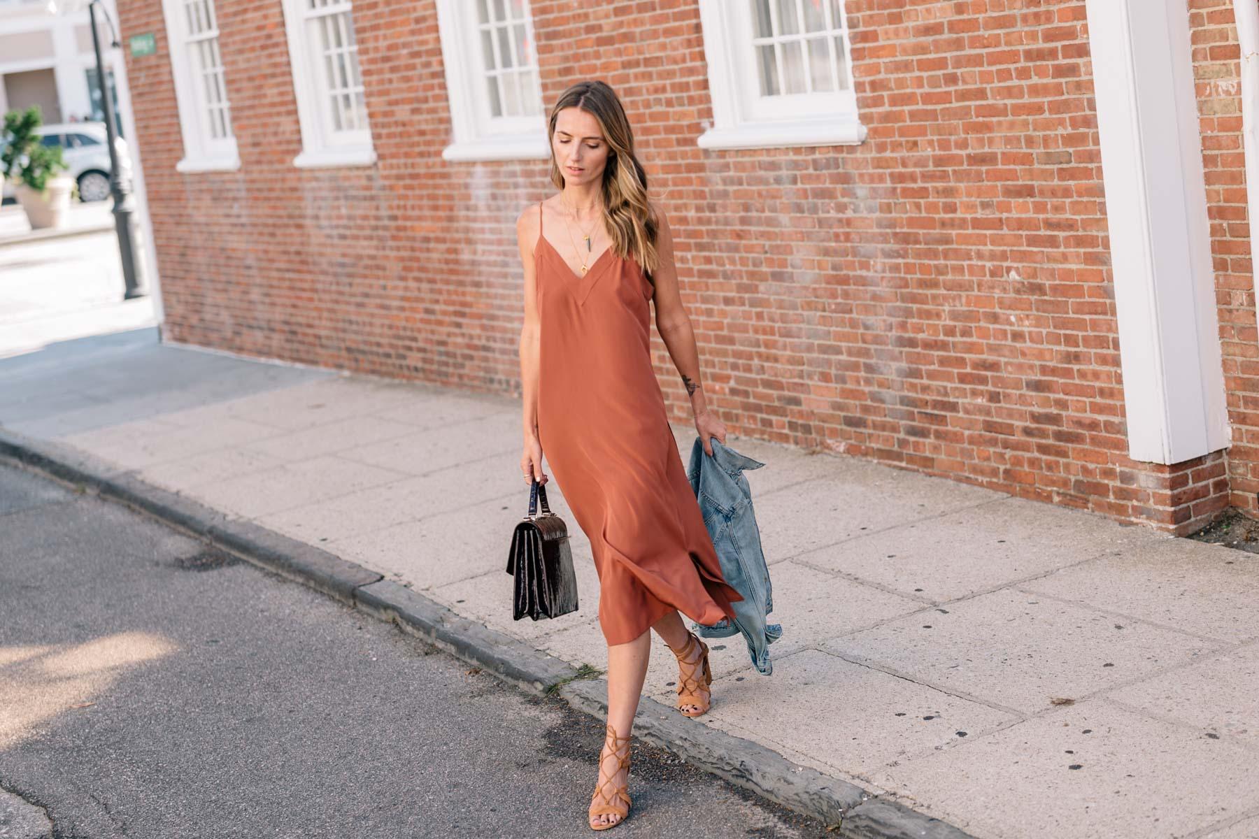Jess-Ann-Kirby-cuyana-silk-slip-dress-levis-denim-jacket