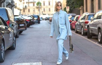 Mandatory Credit: Photo by Cornel Cristian Petrus/Shutterstock (10421596ab) Xenia Adonts Street Style, Spring Summer 2020, Milan Fashion Week, Italy - 21 Sep 2019