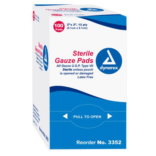 Gauze Pads - Sterile - 2x2 - 100 box