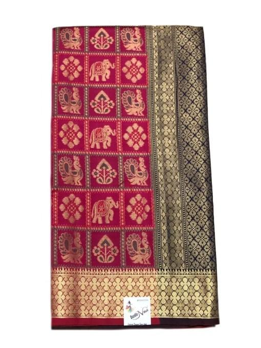 Cotton Silk Wedding Wear Patola Design