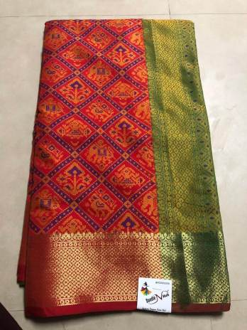 Soft Cotton Silk Patola Design