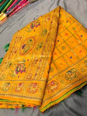 Banglori silk with work saree