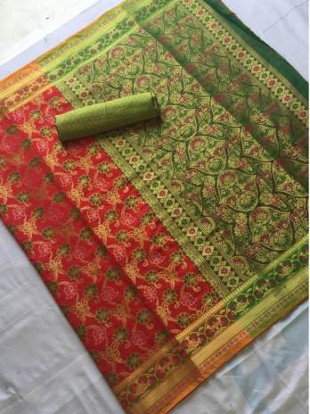Banaras Silk Patoda Saree with Jhalar