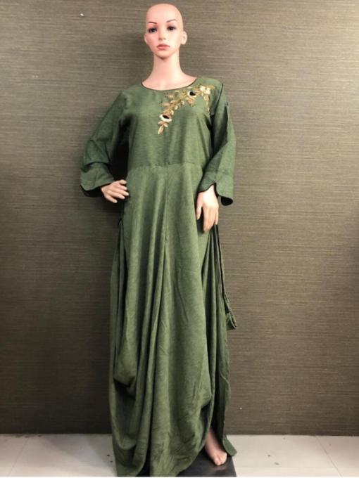 Rayon Lussy Fabric with Heavy work Dress