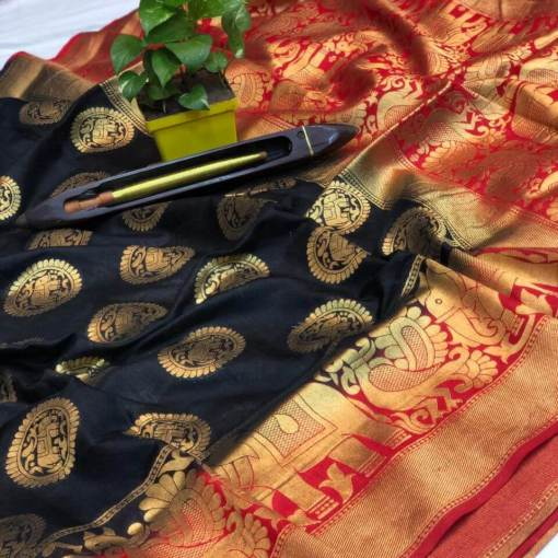 Kanchipuram spun silk saree