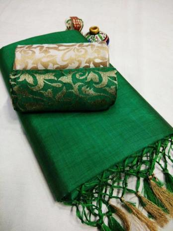 Heavy Chanderi Cotton Saree
