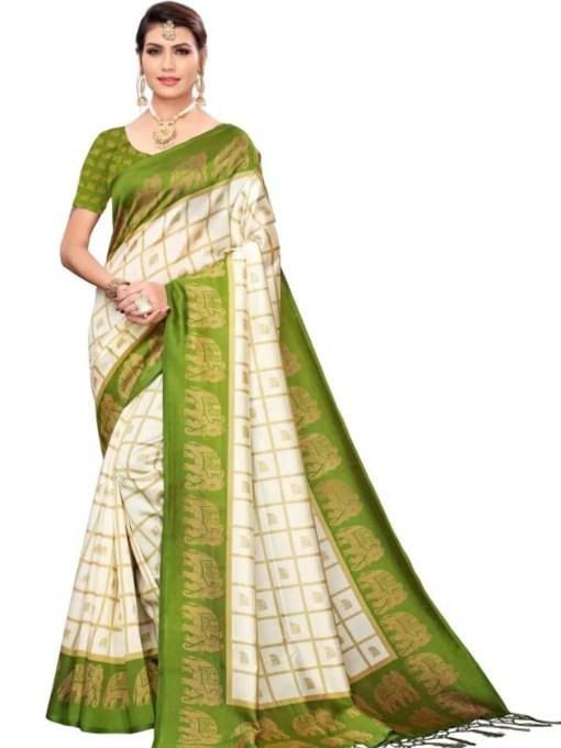 Art Silk Printed Fancy Sarees