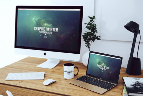 30 Free Workspace Mockup Templates For Photoshop Psd