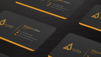 Best Free Portfolio Website PSDs To Download - Social media business card template free