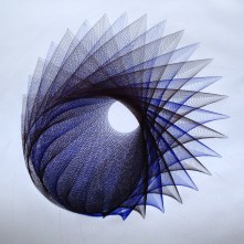 Parametric Drawing, black and blue ink. 24x24 inches.