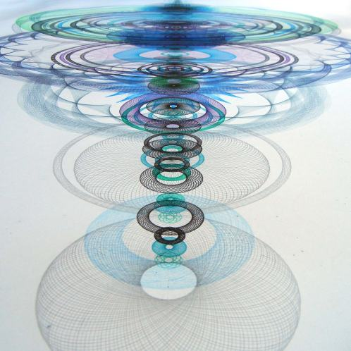 "Mary Wagner, ""Resonance Disaster Landscape"", 2015, ink, graphite, color pencil on paper, 100 x 50 inches."