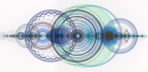 """Resonance Disaster Landscape"", 56 x 100 inches, pigment ink, ballpoint ink, graphite pencil, color pencil on paper"