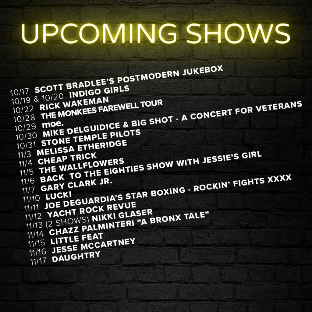 Upcoming Show List