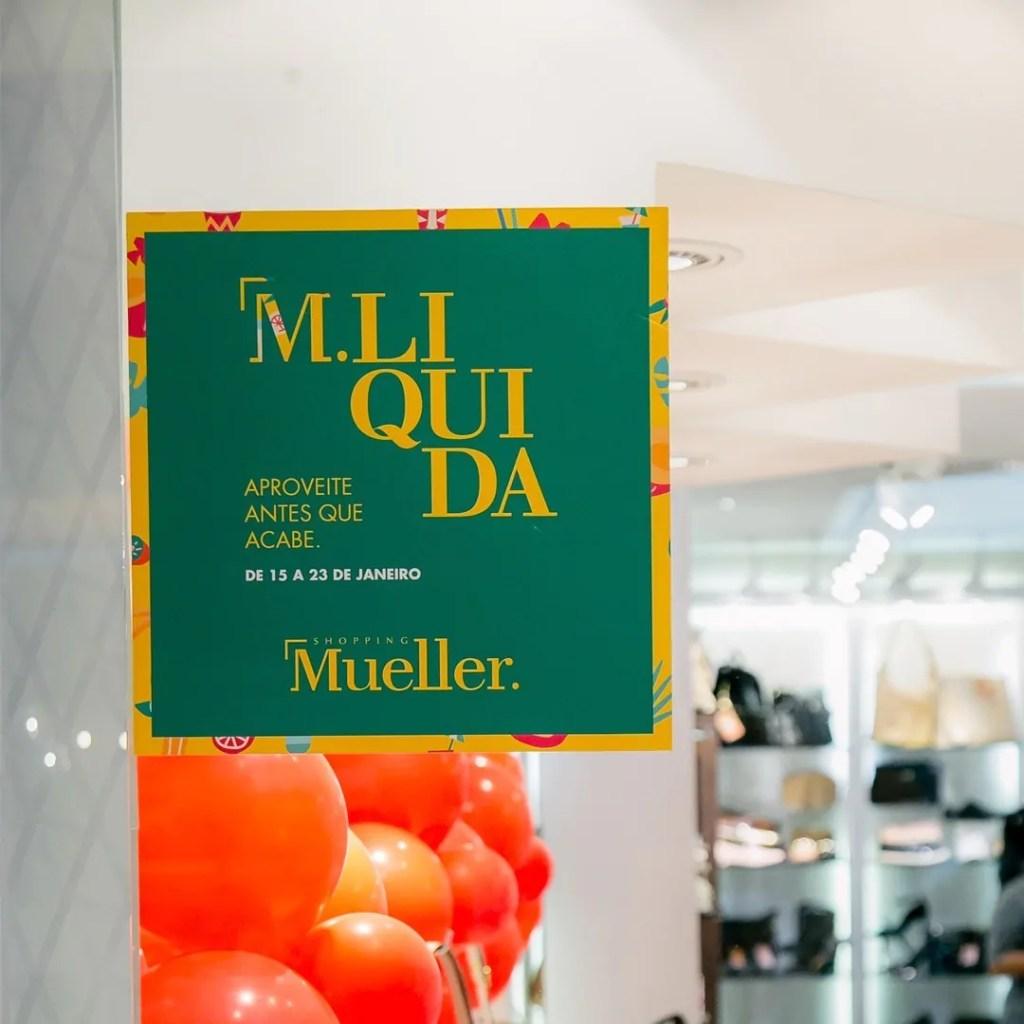 Shopping Mueller tem frete grátis para compras online e descontos de até 70%