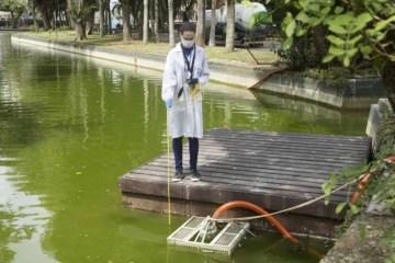 Sanepar e prefeitura fazem parceria em projeto com nanobolhas no Passeio Público de Curitiba