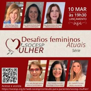 Campanha de valorização da mulher cardiologista e profissional de saúde é lançada pela SOCESP