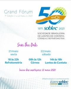 Grand Fórum SOBLEC, on-line, nos dias 21 e 22 de maio - Foto: Divulgação