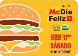 Começam as vendas antecipadas para o McDia Feliz 2021