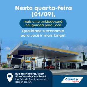 Condor inaugura dois postos de combustíveis em uma semana