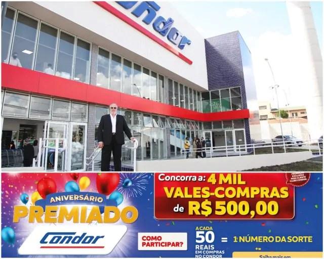Condor sorteia 4 mil vales-compras para comemorar aniversário da rede