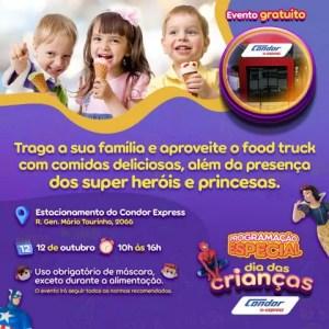Condor Express terá Dia das Crianças com princesas, super-heróis e food truck