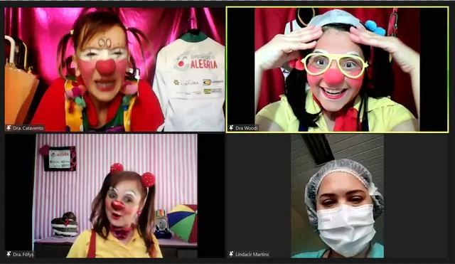 Especialistas da alegria kids realizam espetáculos virtuais em hospitais pediátricos