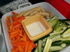 veggie platter and dip