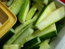 cucumber sticks