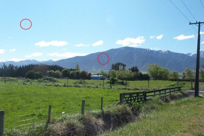New Zealand ufo circled