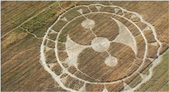 Un cercle de céréales (crop circle) au Mexique