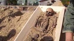 """Un squelette de """"vampire"""" découvert en Pologne"""
