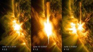3 éruptions solaires de classe X en 2 jours !