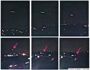 Un OVNI ou une météorite filmé en direct dans un téléjournal américain