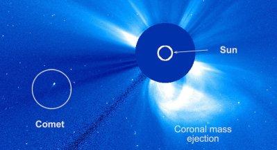 Une comète indemne après avoir frôlé le soleil