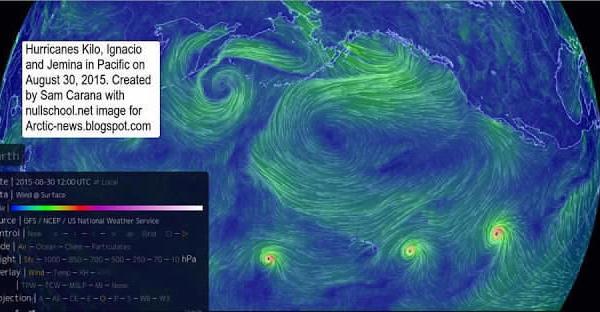 Pour la première fois, trois ouragans de catégorie 4 détectés en même temps dans l'océan Pacifique