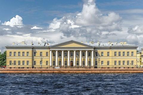 Le building de l'académie impérial des sciences de Saint-Pétersbourg