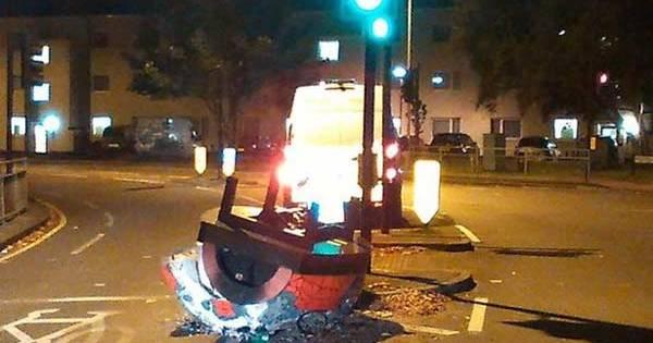 Un OVNI Flamboyant s'est écrasé dans une Rue de Londres