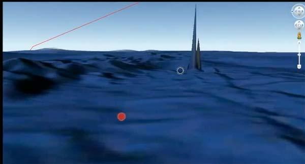 Une tour de 600 mètres de haut localisée sous les eaux ?