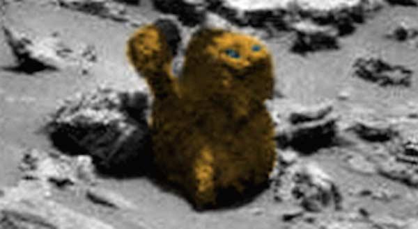 Une statue en forme de CHAT découverte sur Mars par le rover de la NASA